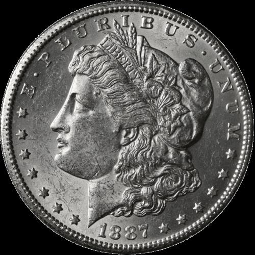 1887-S Morgan Silver Dollar Brilliant Uncirculated - BU