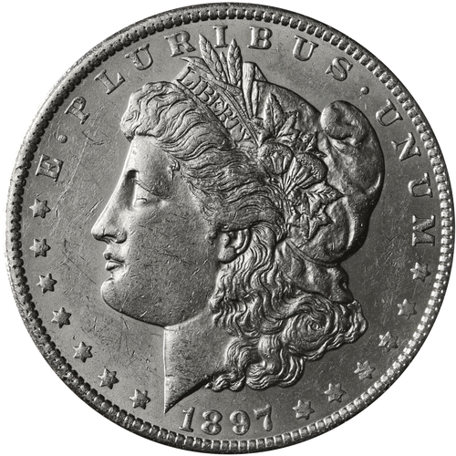 1897-P Morgan Silver Dollar Brilliant Uncirculated BU