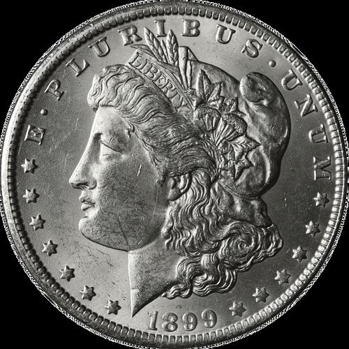 1899-O Morgan Silver Dollar Brilliant Uncirculated - BU
