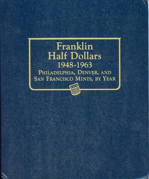 Complete Franklin Silver Half Dollar Set AU/BU in Book