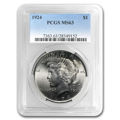 Peace Dollar PCGS MS63 (Mixed Dates)