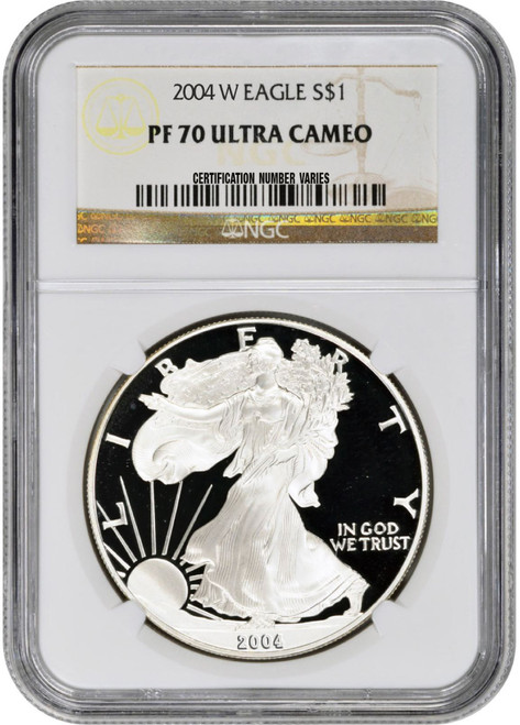 2004-W American Silver Eagle Proof - NGC PF70 UCAM