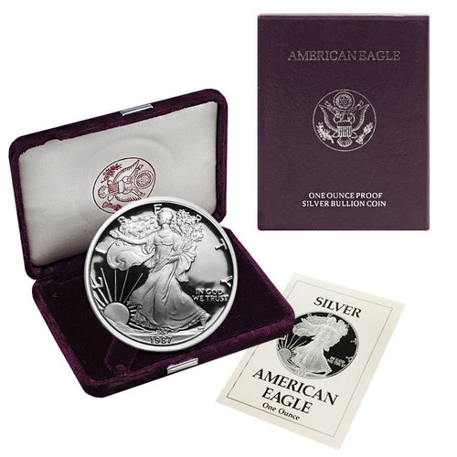 1987-S American Silver Eagle Proof (OGP & Papers)