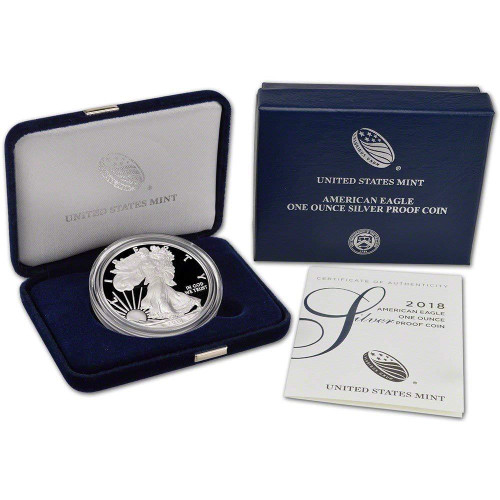 2018-S American Silver Eagle Proof (OGP & Papers)