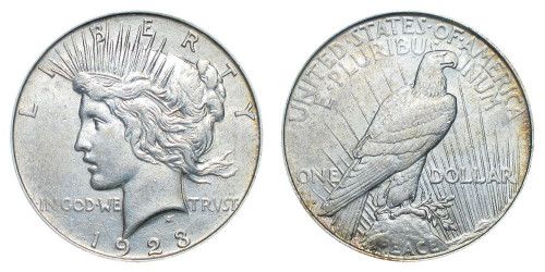 1923-D Peace Dollar Brilliant Uncirculated - BU