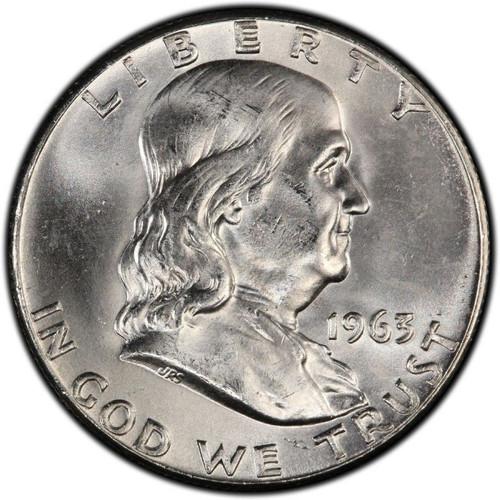 1963-D Franklin Half Dollar BU