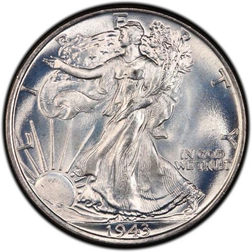1943-P Walking Liberty Half Dollar Brilliant Uncirculated - BU