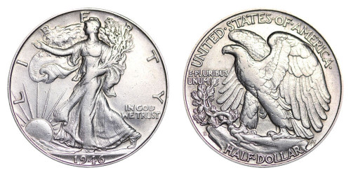 1946-S Walking Liberty Half Dollar Brilliant Uncirculated - BU