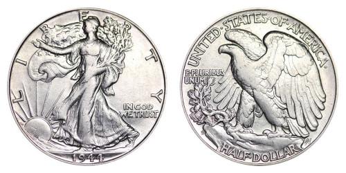 1944-D Walking Liberty Half Dollar Brilliant Uncirculated - BU