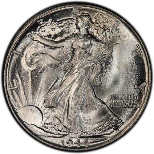 1944-P Walking Liberty Half Dollar Brilliant Uncirculated - BU