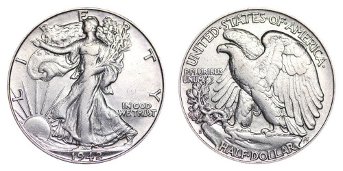 1942-D Walking Liberty Half Dollar Brilliant Uncirculated - BU