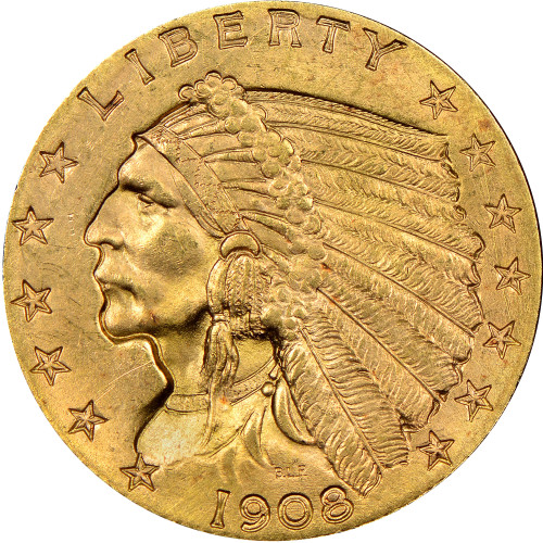 $2.5 Gold Indian Brilliant Uncirculated - BU - Random Date