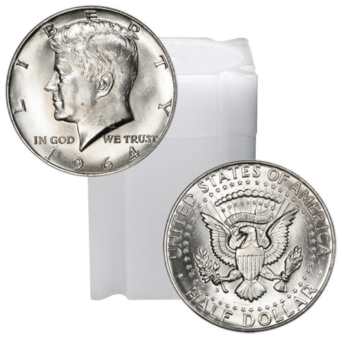 1964 Kennedy Half Dollar Roll Brilliant Uncirculated - BU (20 Coins)