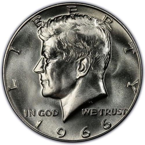 1966 Kennedy Half Dollar Roll Brilliant Uncirculated - BU (20 Coins)