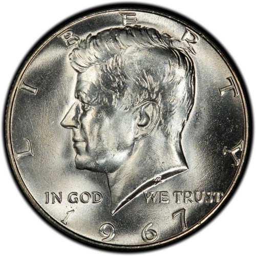 1967 Kennedy Half Dollar Roll Brilliant Uncirculated - BU (20 Coins)