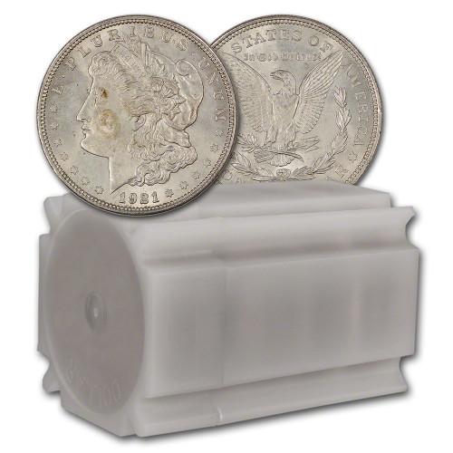 1921 Morgan Silver Dollar Circulated VG-XF (Roll of 20)