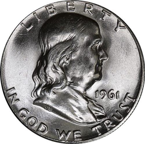 1961-P Franklin Half Dollar Brilliant Uncirculated - BU
