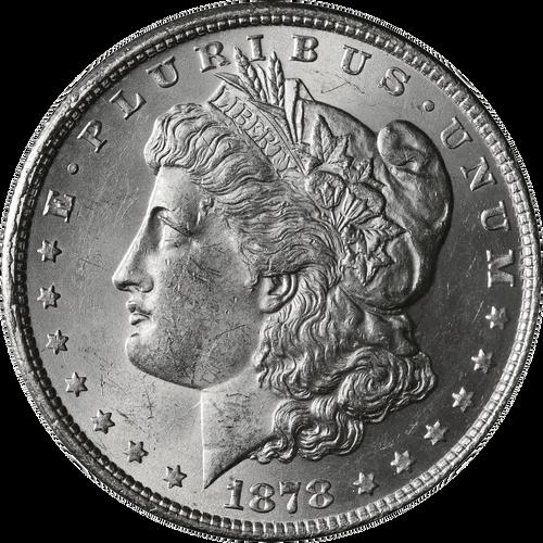 1878-P 8TF Morgan Silver Dollar Brilliant Uncirculated - BU