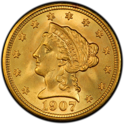 $2.5 Gold Liberty Brilliant Uncirculated - Mixed Dates  obverse