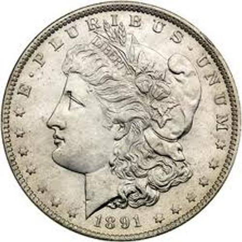 1891-O Morgan Silver Dollar Brilliant Uncirculated - BU