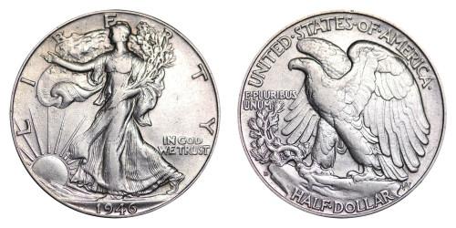 1946-D Walking Liberty Half Dollar BU
