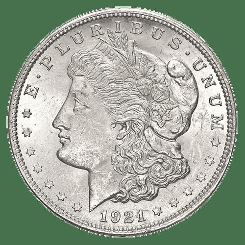 1921 Morgan Silver Dollar Almost Uncirculated - AU