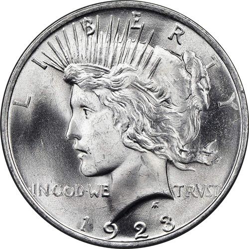 Peace Dollar Brilliant Uncirculated - BU (Mixed Dates)