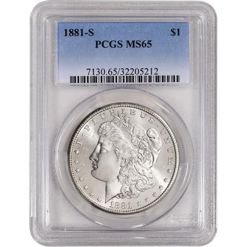 Pre-21 Morgan Silver Dollar PCGS MS65