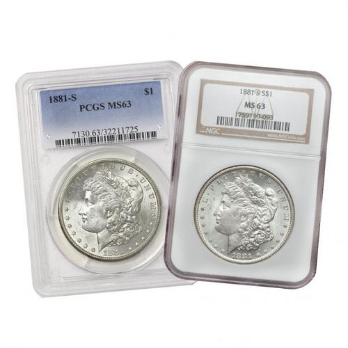 Pre-21 Morgan Silver Dollar PCGS/NGC MS63