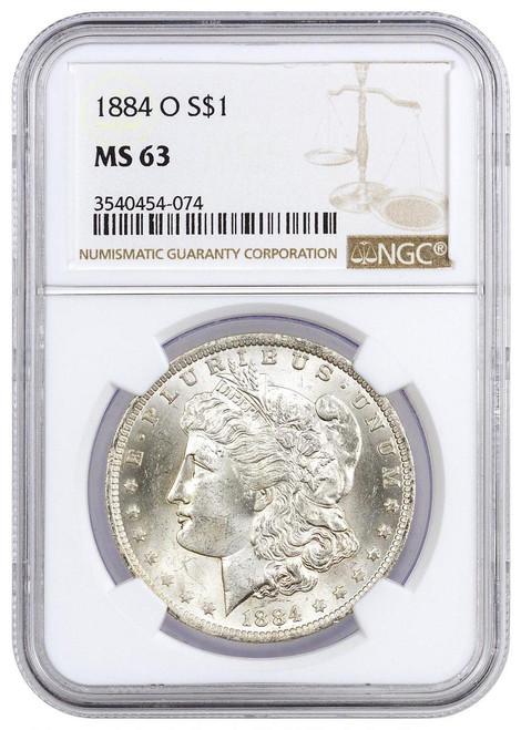 Pre-21 Morgan Silver Dollar NGC MS63