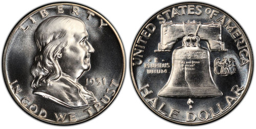 1951 Franklin Half Dollar Choice Proof