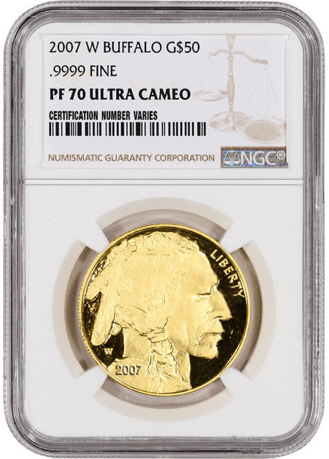2007 $50 Proof Gold Buffalo NGC PF70 UCAM