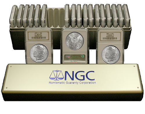 20 Different Morgan Dollar Coin Collection NGC MS63 w/ Storage Case