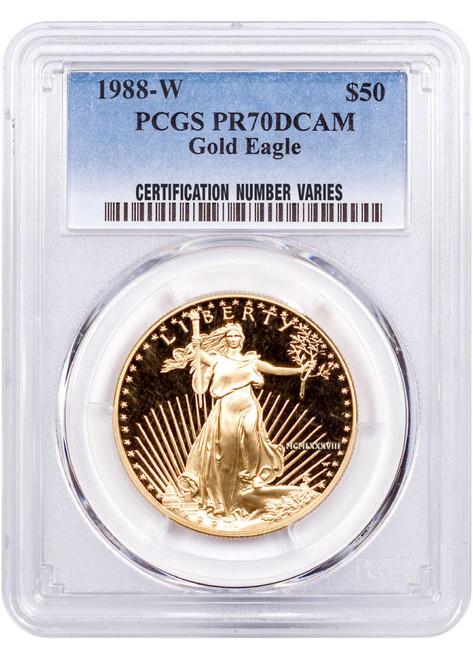 1988 $50 Proof Gold Eagle PCGS PR70 DCAM
