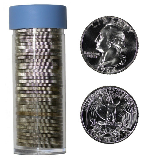 90% Silver Washington Quarter GEM Proof- Roll of 40