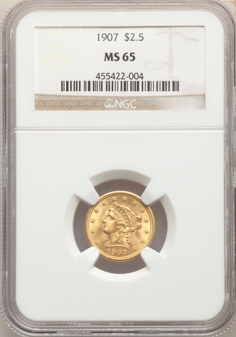 1907 $2.5 Gold Liberty NGC MS65 - 742313166