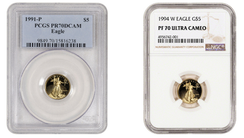 $5 Gold Eagle NGC/PCGS PF70 - Mixed Dates