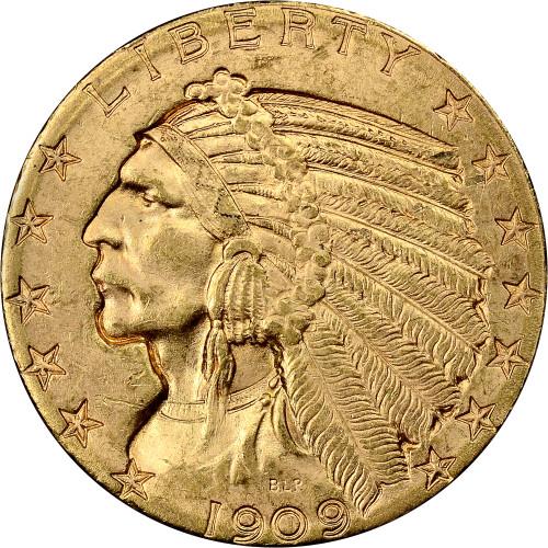 $5 Gold Indian Brilliant Uncirculated - BU - Random Date