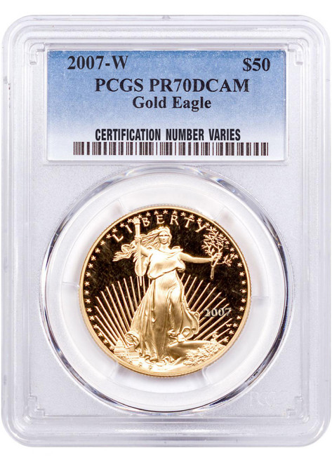 2007 $50 Proof Gold Eagle PCGS PR70 DCAM