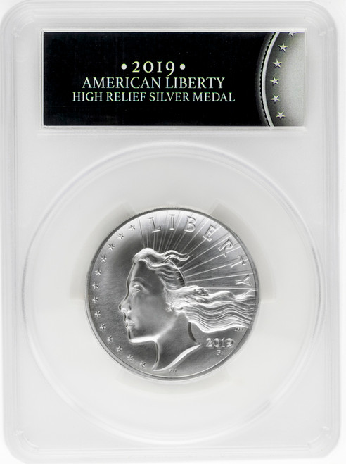 2019-P American Liberty High Relief Matte 2.5 oz Silver Medal PCGS SP69 First Day of Issue