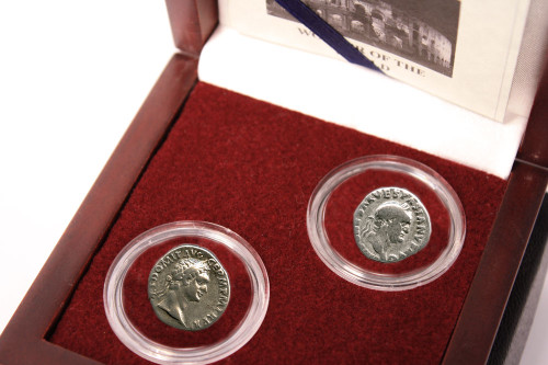Architects Of The Roman Coliseum: Box of 2 Silver Coins