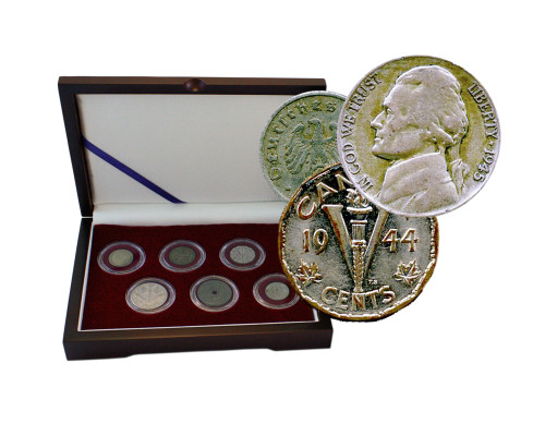 D-Day: Box of 6 Coins from the WWII Invasion of Normandy