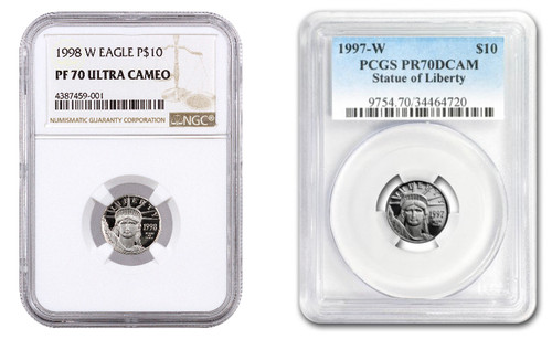 1/10th oz $10 Proof Platinum Eagle NGC/PCGS PR70 (Mixed Dates)