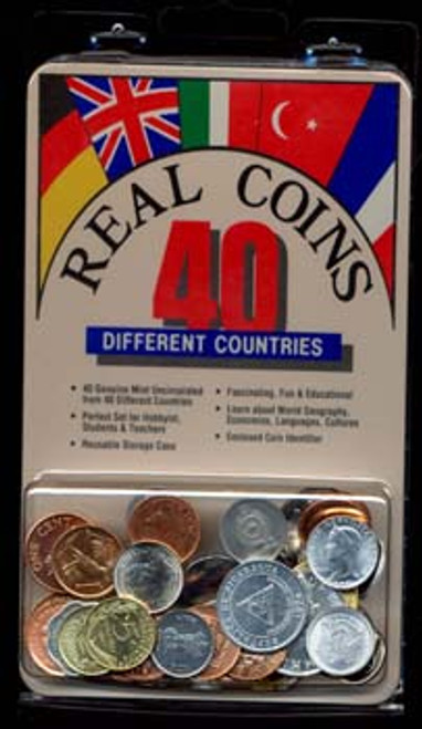 From around the World: A Collection of 40 Coins (U)
