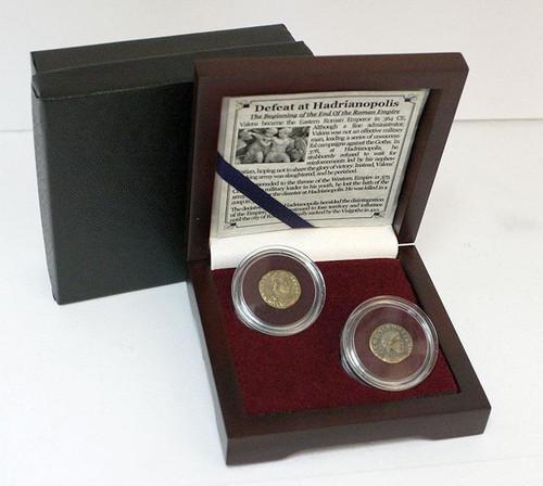 The Battle of Hadrianopolis: Box of 2 Roman Bronze Coins