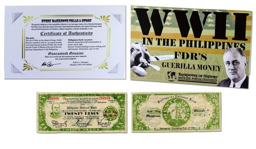 FDR's Philippine 20 Pesos Single Banknote Folder