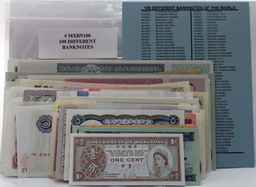 100 different banknotes (U)