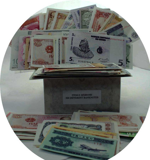 Giant banknote mix of 500 banknotes (U)