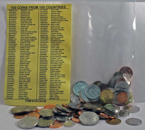 100 coins from 100 different countries (U)
