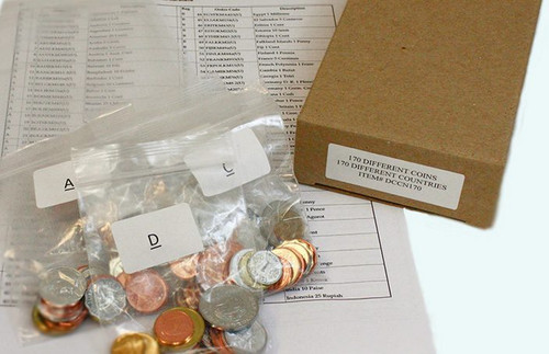 170 different coins from 170 different countries (U)